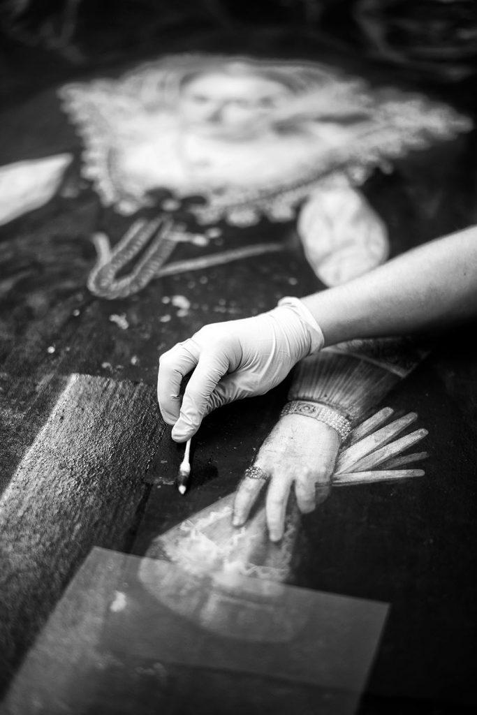 Restaurierungsarbeiten im Königsflügel des Schlosses in Bad Homburg vor der Höhe am 09.07.2020.Copyright / Bildnachweis: Frank Röth